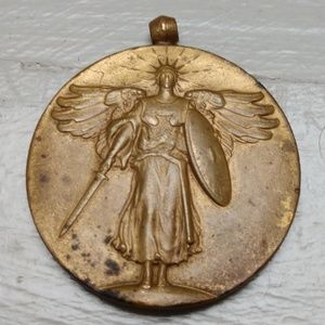 Antique WW1 Bronze Victory Medal The Great War